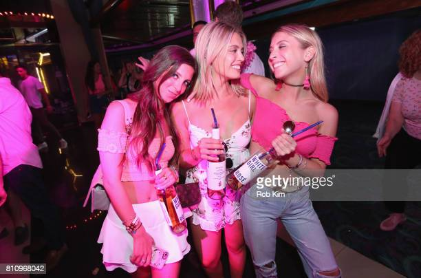 Guests attend the DailyMailcom NYC Boat Party hosted by Swish Beverages for White Girl Rose on July 8 2017 in New York City
