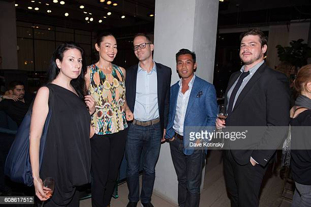 "Guests attend the Daniel Arsham ""Colorblind Artist: In Full Color"" at Spring Place on September 19, 2016 in New York City."