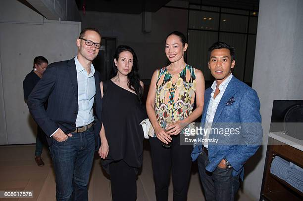 Guests attend the Daniel Arsham Colorblind Artist In Full Color at Spring Place on September 19 2016 in New York City