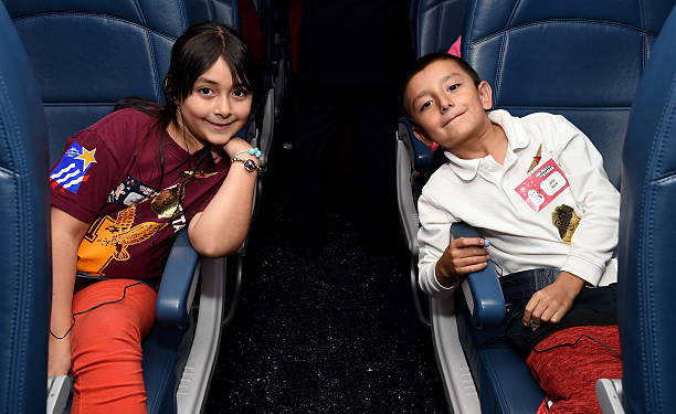 "Delta Air Lines Hosts Sixth Annual Holiday ""Flight"" To The North Pole For 150 Kids From Children's Hospital Los Angeles And P.S. ARTS At LAX"
