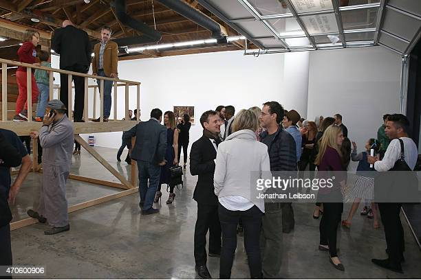 Guests attend the Depart Foundation In Collaboration With American Academy In Rome Presents Grear Patterson Seek And Destroy Public Opening on April...