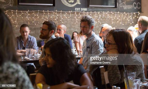 Guests attend the DGA Reception during 2017 Los Angeles Film Festival at City Tavern on June 16 2017 in Culver City California