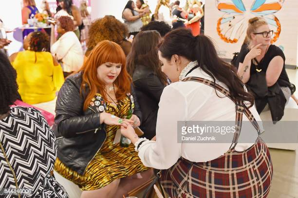 Guests attend the DiaCo fashion show and industry panel at the CURVYcon at Metropolitan Pavilion West on September 8 2017 in New York City