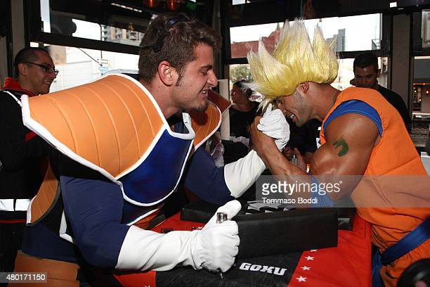 Guests attend the Dragon Ball Z Resurrection 'F' San Diego Comic Con opening night VIP party held at Whiskey Girl on July 9 2015 in San Diego...