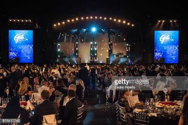 Guests attend the Dubai Internatinal Airshow Gala Dinner at Atlantis The Palm on November 15 2017 in Dubai United Arab Emirates