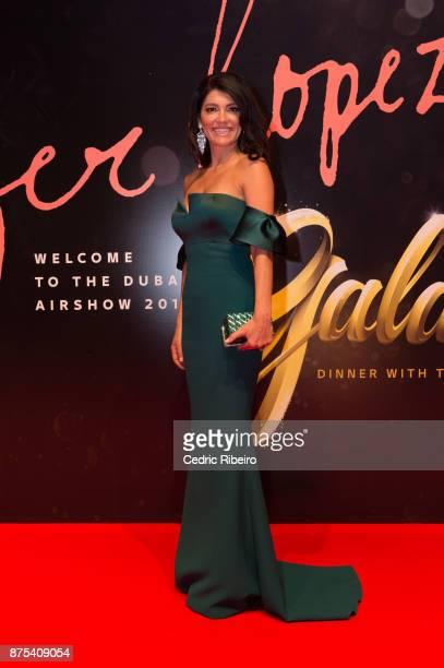 Guests attend the Dubai International Airshow Gala Dinner at Atlantis The Palm on November 15 2017 in Dubai United Arab Emirates