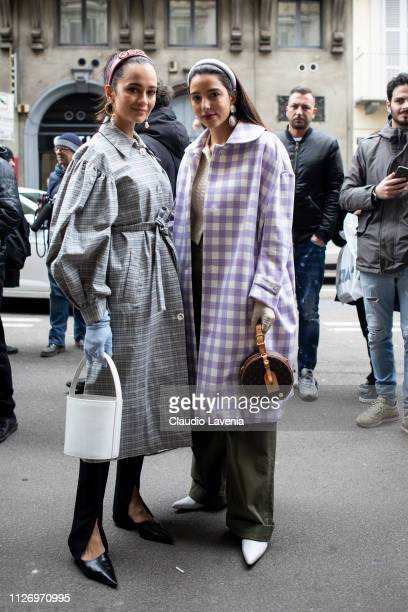 Guests attend the Ermanno Scervino show at Milan Fashion Week Autumn/Winter 2019/20 on February 23 2019 in Milan Italy