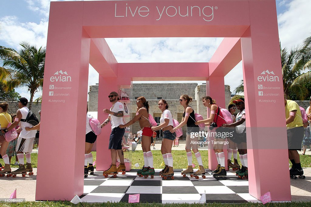 evian® Live Young®, Skate On! Pop Up Roller-Skating Event : News Photo