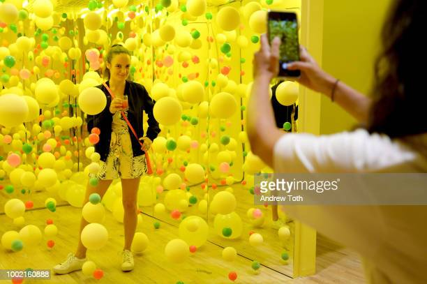 Guests attend the experiential popup The Pop Shop By Vita Coco at intimate launch party in SoHo on July 19 2018 in New York City