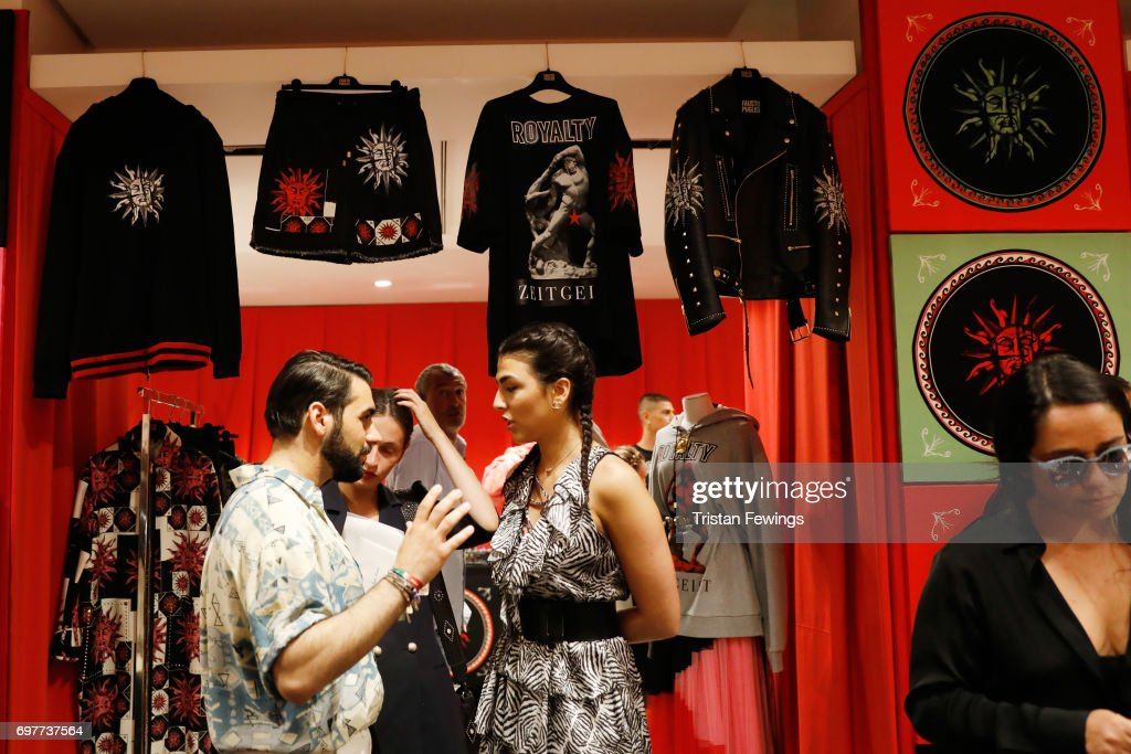 Guests attend the Fausto Puglisi Presentation during Milan Men's Fashion Week Spring/Summer 2018 on June 19, 2017 in Milan, Italy.