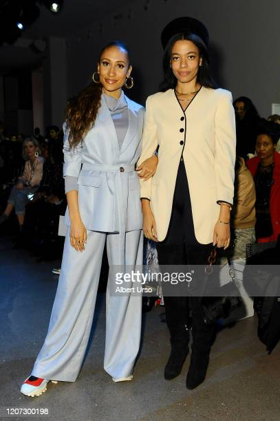 Guests attend the Fe Noel front row during New York Fashion Week The Shows at Gallery II at Spring Studios on February 12 2020 in New York City