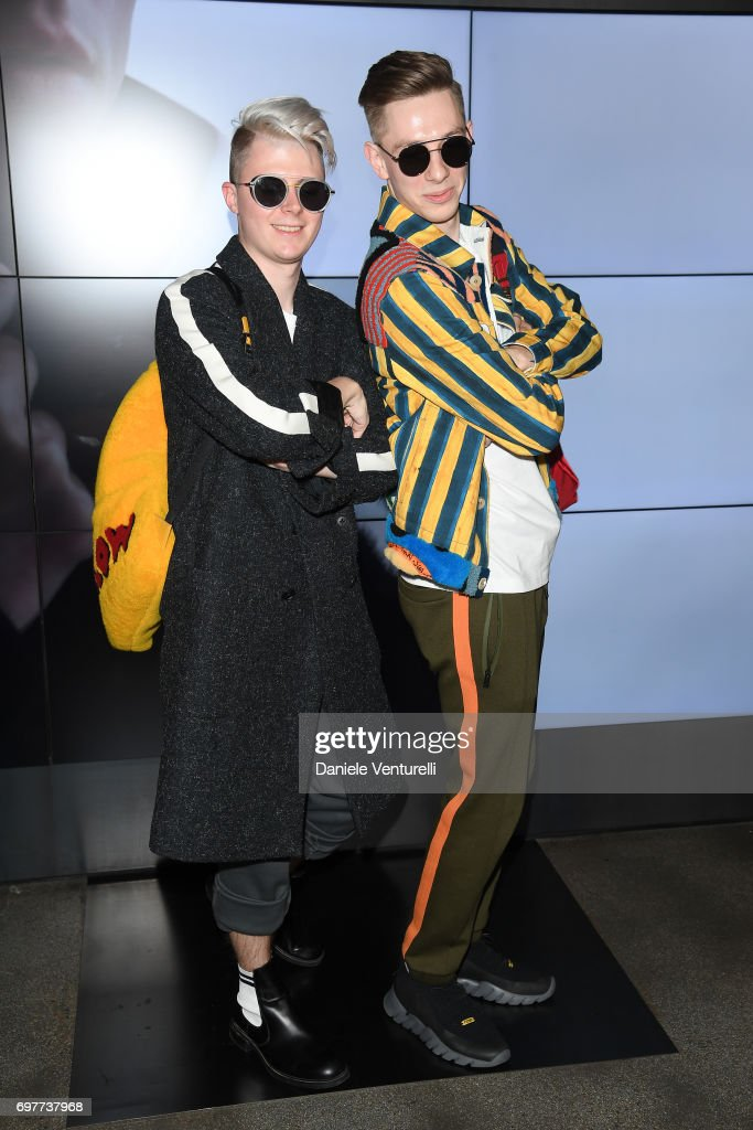 Guests attend the Fendi show during Milan Men's Fashion Week Spring/Summer 2018 on June 19, 2017 in Milan, Italy.