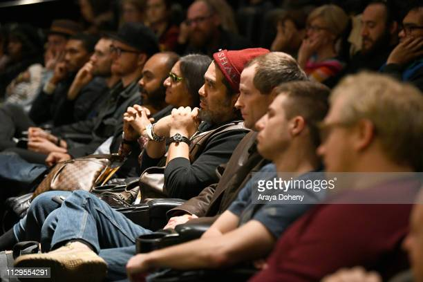 Guests attend the Film Independent Directors CloseUp Another Type Of Narrative The Truth Of Docs at The Landmark on February 13 2019 in Los Angeles...
