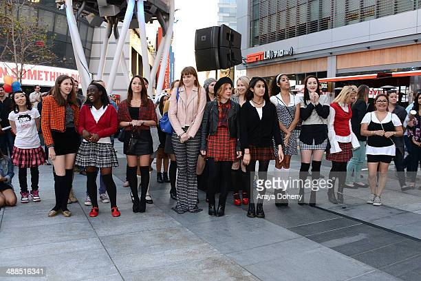 Guests attend the Film Independent's prefestival outdoor screening of 'Clueless' at LA LIVE on May 6 2014 in Los Angeles California