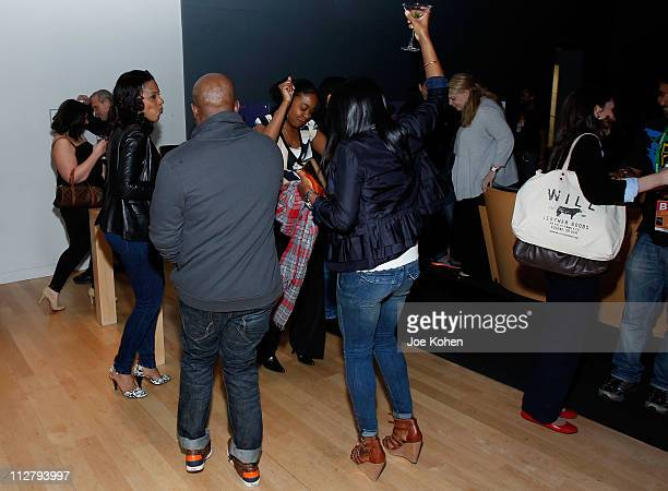 Guests attend the Filmmaker Welcome Party At The 2011 Tribeca Film Festival at the Apple Store Soho on April 21 2011 in New York City