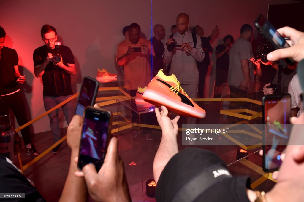 f6b7e3f52dc Guests attend the first look of PUMA basketball shoe, Clyde Court ...