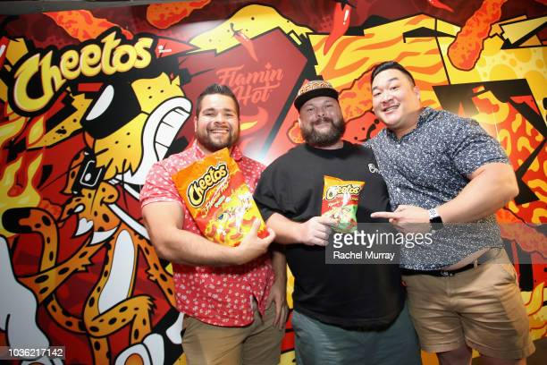 Guests attend The Flamin Hot Spot Cheetos new limitedtime restaurant with a menu inspired by chef Roy Choi at Madera Kitchen on September 19 2018 in...