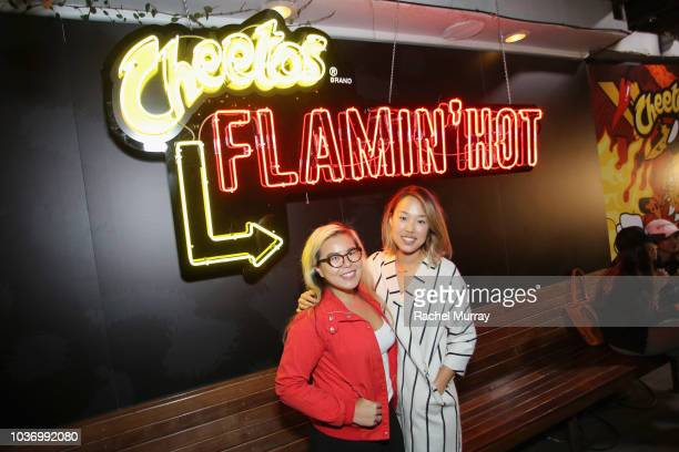 Guests attend The Flamin Hot Spot Cheetos new limitedtime restaurant with a menu inspired by chef Roy Choi at Madera Kitchen on September 20 2018 in...