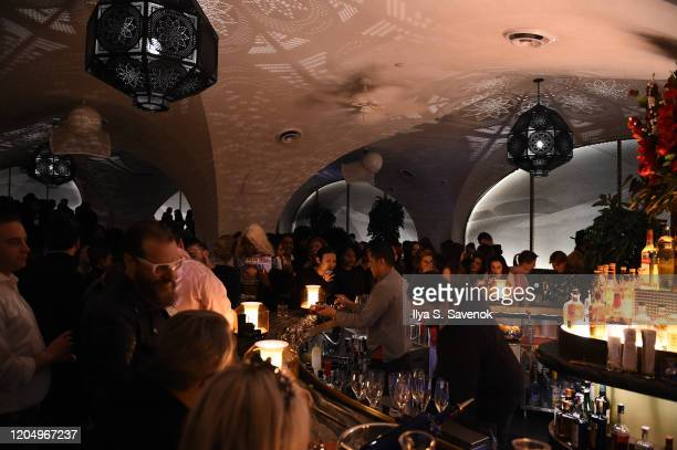 Guests attend the Flying Solo NYFW after party at Célon Bar Lounge on February 8 2020 in New York City