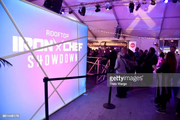 Guests attend the Food Network Cooking Channel New York City Wine Food Festival presented by CocaCola Rooftop Iron Chef Showdown Battle Autumn Bounty...
