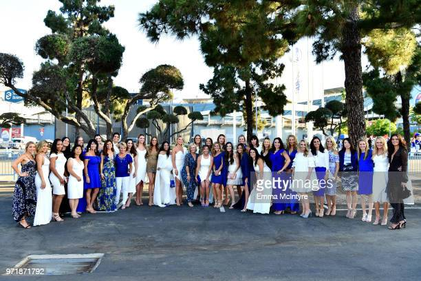 Guests attend the Fourth Annual Los Angeles Dodgers Foundation Blue Diamond Gala at Dodger Stadium on June 11 2018 in Los Angeles California