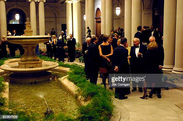 Guests attend the Frick Collection Autumn dinner at The Frick Collection on October 20 2008 in New York City
