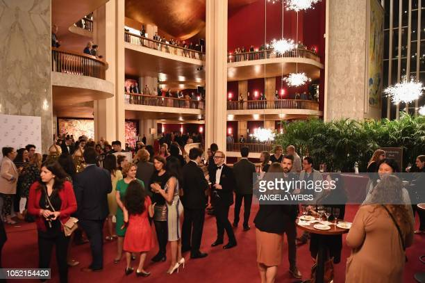 """Guests attend the """"Fridays Under 40"""" event at Metropolitan Opera at Lincoln Center for the Performing Arts on October 5, 2018 in New York City. - The..."""