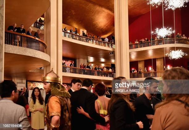 "Guests attend the ""Fridays Under 40"" event at Metropolitan Opera at Lincoln Center for the Performing Arts on October 5, 2018 in New York City. - The..."