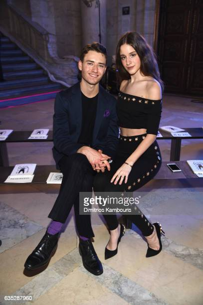 Guests attend the Front Row for the Philipp Plein Fall/Winter 2017/2018 Women's And Men's Fashion Show at The New York Public Library on February 13...