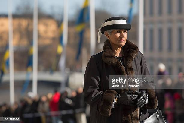 Guests attend the funeral of Princess Lilian Of Sweden on March 16, 2013 in Stockholm, Sweden.