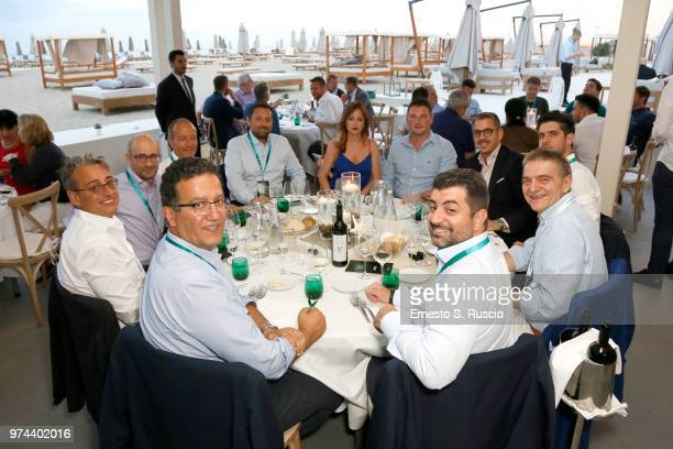 Guests attend the gala dinner at the Kaspersky Lab European Reseller Summit 2018 on June 12 2018 in Milano Marittima Cervia Italy Kaspersky Lab held...