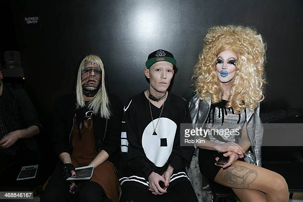 Guests attend the Geoffrey Mac For Sharon Needles Show during MercedesBenz Fashion Week Fall 2014 at The Out NYC on February 11 2014 in New York City