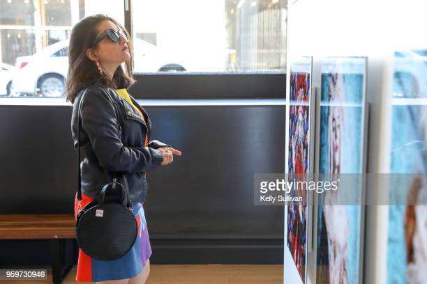 Guests attend the Getty Images SUBJECT / OBJECT / CREATOR exhibition on the evolution of the female gaze at Argonaut on May 17 2018 in San Francisco...