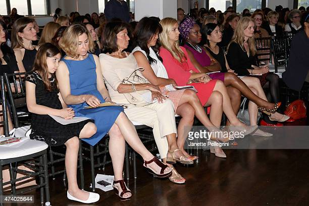 Guests attend the Girls Write Now Awards honoring Chimamanda Ngozi Adichie Pamela Paul and Juju Chang at Tribeca 360 on May 19 2015 in New York City