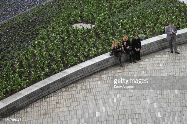Guests attend the grand opening of phase one of the Hudson Yards development on the West Side of Midtown Manhattan March 15 2019 in New York City...