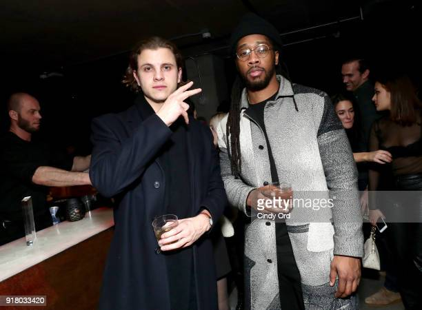 Guests attend the Heron Preston Tequila Avion Dance Party in Celebration Of Heron Preston 'Public Figure' at Public Arts on February 13 2018 in New...