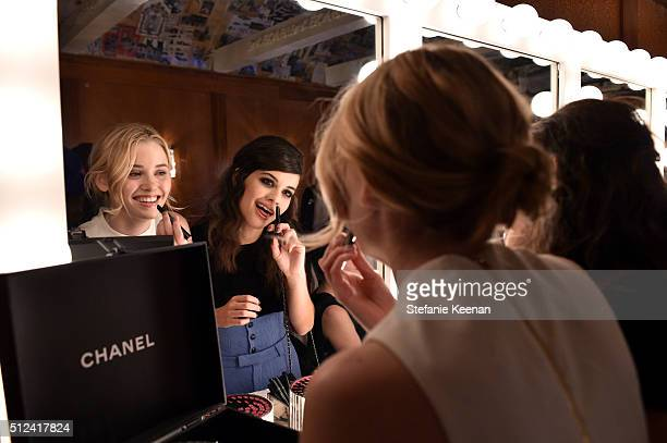 Guests attend the I Love Coco Backstage Beauty Lounge at Chateau Marmont's Bar Marmont on February 25 2016 in Hollywood California
