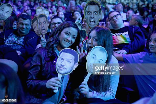 Guests attend the Impractical Jokers Live Nitro Circus Spectacular at Prudential Center on November 3 2016 in Newark New Jersey 26485_003_0257JPG
