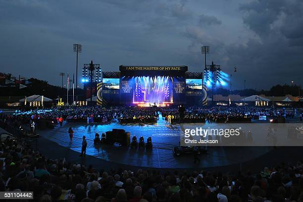 Guests attend the Invictus Games Orlando 2016 Closing Ceremony at ESPN Wide World of Sports Complex on May 12, 2016 in Lake Buena Vista, Florida.