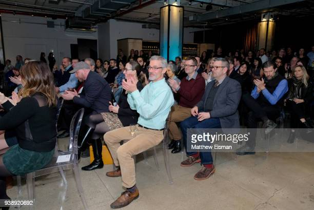 Guests attend the John Moore Undocumented Book Launch at Neuehouse on March 27 2018 in New York City