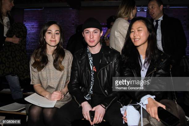 Guests attend the John Varvatos Fall/Winter Runway Show featuring makeup by Chica Chan for MakeUp Pro and hair by Yannik D'Is for Cutler/Redken at...