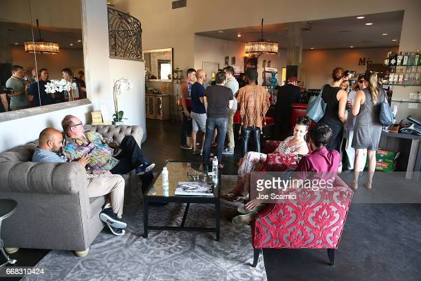 Guests attend the KALEIDOSCOPE LAWN TALKS presented by Delta Air Lines Cannabinoid Water on April 13 2017 in La Quinta California