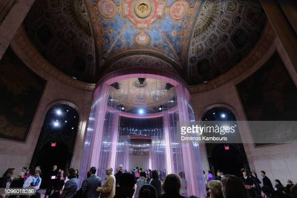 Guests attend the Kate Spade Fashion show during New York Fashion Week at Cipriani 25 Broadway on February 8 2019 in New York City