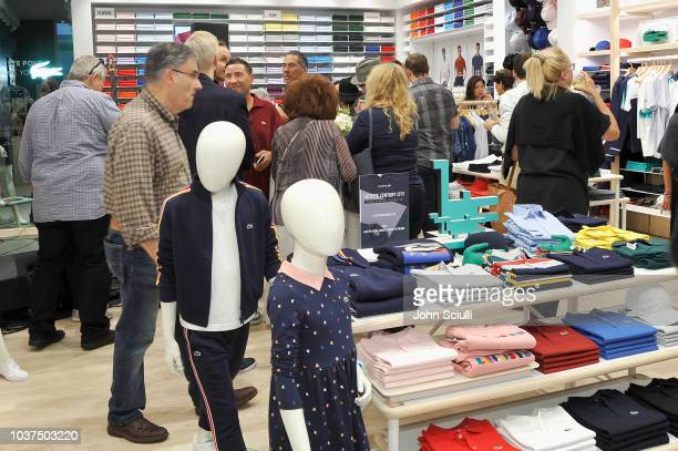 Guests attend the Lacoste Century City Grand Opening on September 21 2018 in Los Angeles California