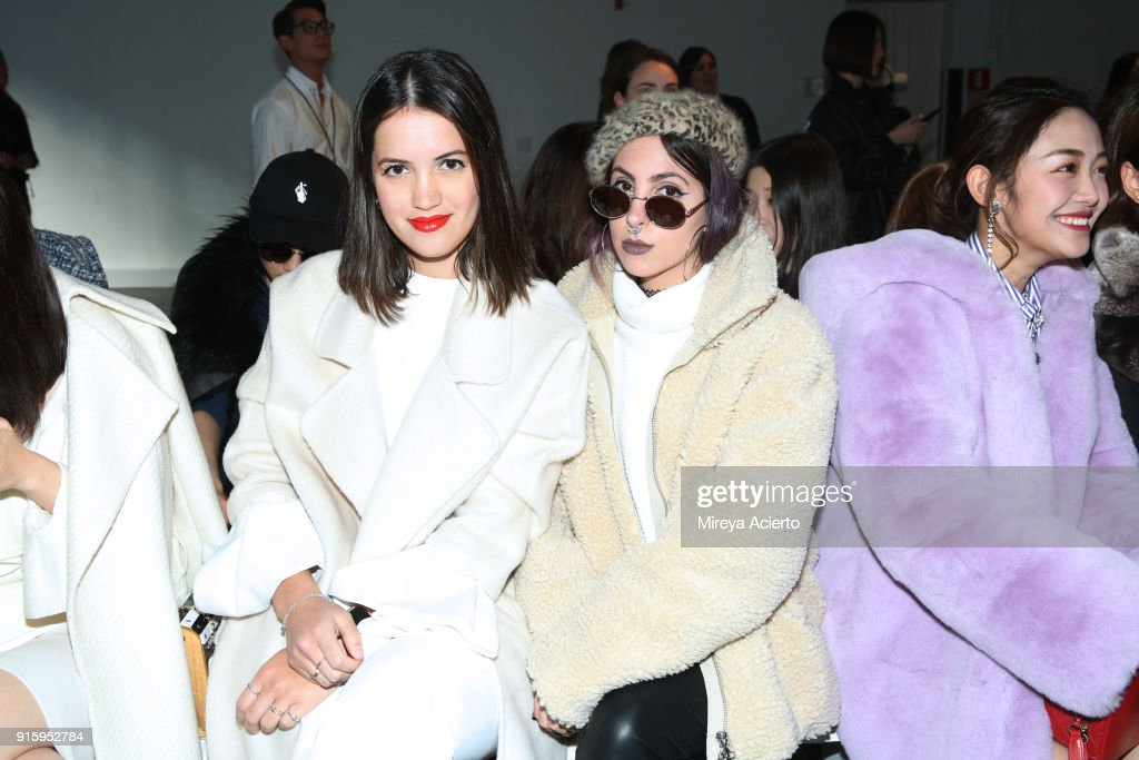 Guests attend the Lanyu front row during New York Fashion Week: The Shows at Industria Studios on February 8, 2018 in New York City.