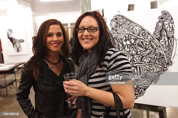 Guests attend the 'Lauren Moshi Gallery for Free Arts for Abused Children' event at Lauren Moshi Gallery on December 6 2011 in Los Angeles California