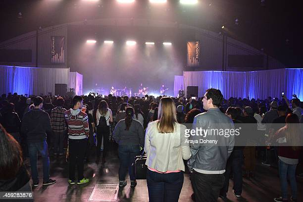 Guests attend the Lexus Pop Up Concert Series Powered By Pandora on November 19 2014 in Costa Mesa California
