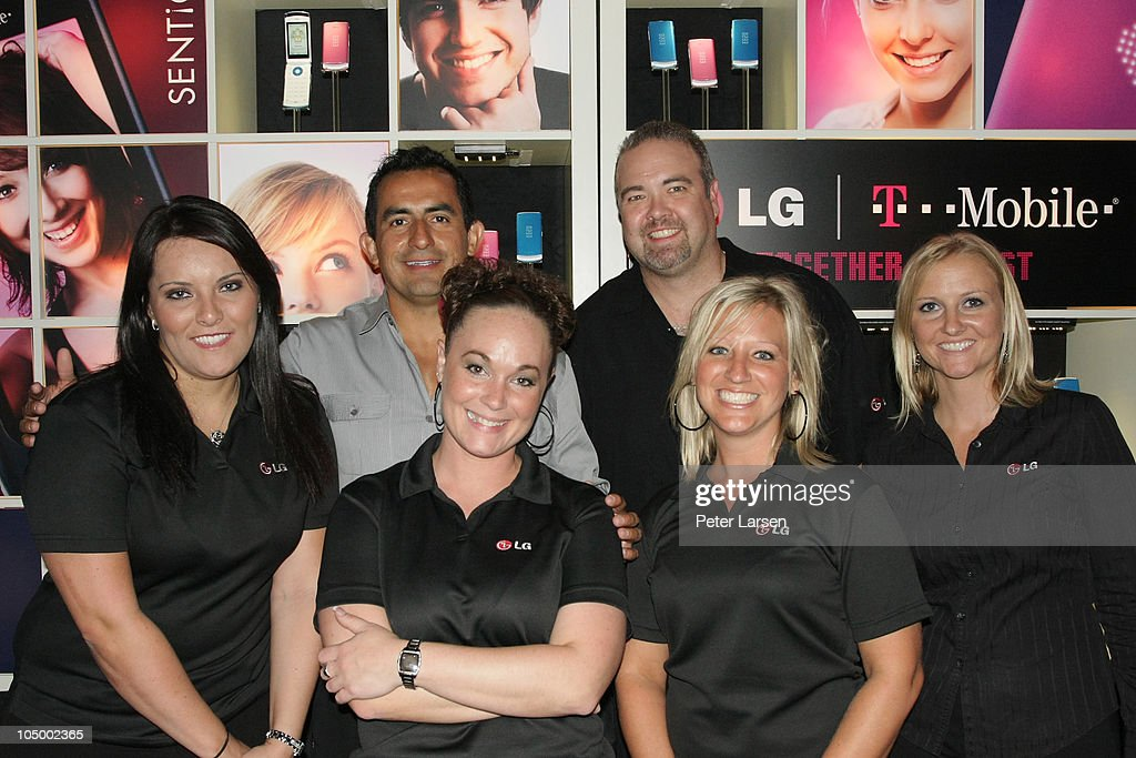 Guests attend the LG/T-mobile
