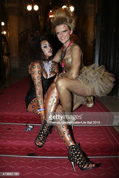 Guests attend the Life Ball 2015 after show party at City Hall on May 16 2015 in Vienna Austria