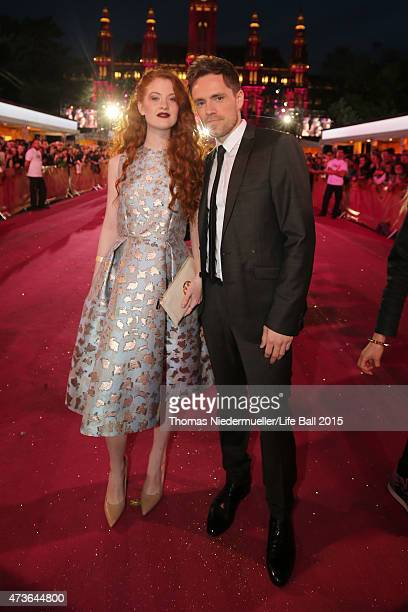 Guests attend the Life Ball 2015 at City Hall on May 16 2015 in Vienna Austria